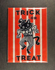 Trick or Treat Magnet - Spooky Halloween Dancing Black Cat