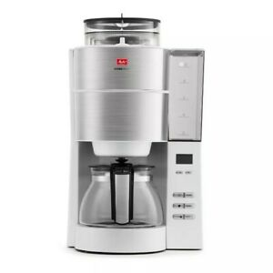 Melitta Aroma Fresh Grind and Brew Coffee Maker Stainless Steel And Black