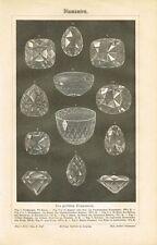 Pizarra diamantes/kohinoor/Sancy/Hope 1886 original-clave de madera