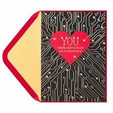 NEW & SEALED Papyrus Heart Circuits Motherboard Computer Valentine's Day Card