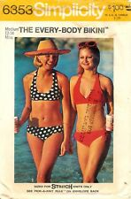 Simplicity # 6353 Sewing Pattern: Misses' The Every-Body Bikini; Size 12-14
