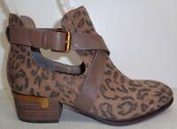Isola Size 8 M DAVAN Desert Tan Leopard Suede Ankle Boots New Womens Shoes