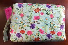 Betsey Johnson Women's Large Mint Double Zip Cosmetic Bag-NWT