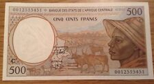 Central African States Banknote. 500 Francs. Congo. Uncirculated.