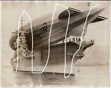 25x20cm vintage press photo 1928 Zeppelin LZ 126 - USS Los Angeles ZR-3 Foto