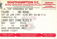 Ticket - Southampton v Fulham 02.01.99 FA Cup