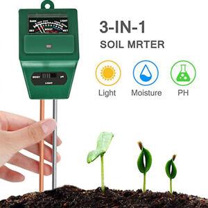 3-in-1 Soil Moisture/Light/PH Sensor Tester Meter Tool For Garden Potted Plant
