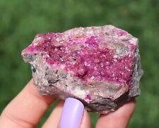 Hot Bubblegum Pink Cobaltoan Calcite Crystals On Matrix From The Congo (: