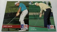 lot of 2 hand signed autographed PGA cards ~ ANDY NORTH