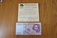 BANCONOTA LIRE 50000 BERNINI II TIPO 1999 certificata qFDS SUBALPINA