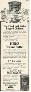 1913 HEINZ Peanut Butter , spaghetti Little children dancing Vintage Print Ad