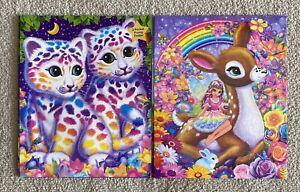 Lisa Frank 2 Folders Elsu & Rosa and Sasha & Shannti