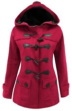 Size 20 Womens New Fuchsia Fleece Duffle Style Hooded Parka Coat Jacket Parker
