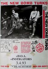 NEW BOMB TURKS - 1993 - Konzertplakat - D.O.A. - Instigators - Tourposter - Brem