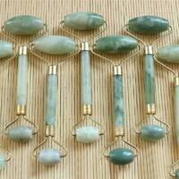Natural Rose Quartz Facial Jade Stone Roller Massage Tool Face Massager AU