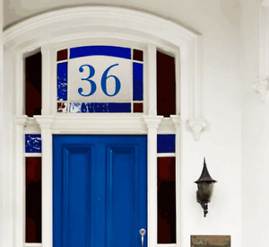 Traditional House Door Number Fanlight Victorian Sticker Frosted/Transparent/Mat