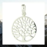 Silver pendant 925 sterling Tree Of Life small size diameter 17mm dainty new