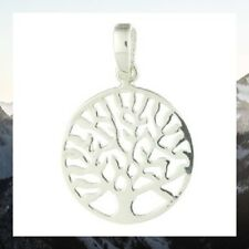 Silver Pendant 925 Sterling Tree of Life Small Size Diameter 17mm Dainty