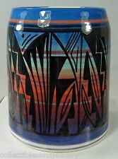 Kanuho Navajo Indian Beer Coffee Mug Cup Signed Begay Black Design on Colors