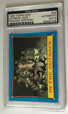 OUTBACK JACK 2017 LEAF BUYBACK WRESTING 1987 TOPPS WWF PSA CERTIFIED AUTO