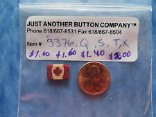 JABC button #3376.T - Tiny Folk Art Canadian Flag