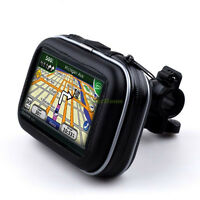 "Waterproof Bicycle Motorcycle Handlebar Mount & Case For 4.3"" Garmin Nuvi GPS"