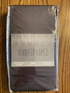JENNIFER LOPEZ 600 TC Egyptian Cotton (2) Standard Pillowcases Mulberry NIP