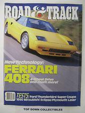 Road and Track Magazine    December  1988   Enzo Ferrari  1898- 1988