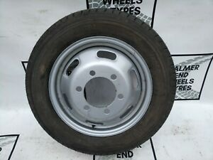 """16"""" IVECO DAILY 6 STUD STEEL TWIN WHEEL 195 65 16C CONTINENTAL TYRE 10mm"""