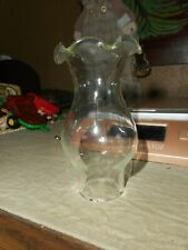 Fluted Clear Glass Chimney Shade For Hurricane Oil Lamp 3 3/4 Inch Tall
