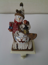 Snowman Shelf or Mantle Stocking Holder