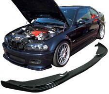BMW E46 M3 FRONT H TYPE FRONT LIP SPLITTER 01-06 | PU PLASTIC | NEW | BLACK UK