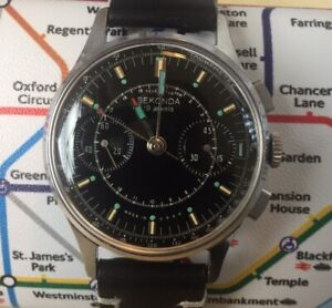 Sekonda 3017 (Poljot - Strela) Chronograph Watch Vintage USSR