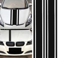 180*8cm Universal Car Truck Decal Vinyl stickers Hood Decals Racing stripe Black