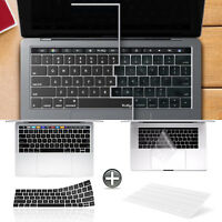 Black +Clear Keyboard Cover for 2018 2017 2016 Release MacBook Pro 13 Inch A1706