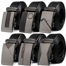 Fashion Leather Mens Automatic Ratchet Buckle Waist Strap Belts NEW! Xmas Gifts