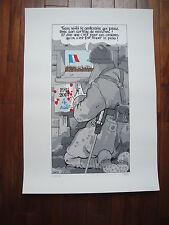 Jacques Tardi sérigraphie couleurs « Poilus Putain de guerre 1914 / 1918″