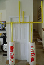 NFL - DIET COKE GOAL POSTS FROM 1989 IN-STORE RETAIL DISPLAY SET
