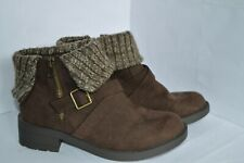 Rocket Dog Womens Brown Textile Ankle Boots Size UK 6 EU 39