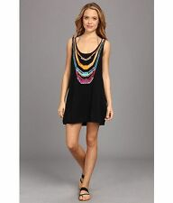 NANETTE LEPORE ZAHIA INTARSIA  WOMENS TANK DRESS  BLACK MEDIUM NWT