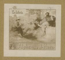 Ex libris art deco Exlibris by Unidentified artist /Europe