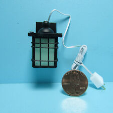 Dollhouse Miniature Craftsman Style Outdoor Porch Lamp Light 12v Electric MH1049