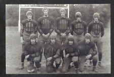 REAL PHOTO CONNECTICUT AGRICULTURAL COLLEGE FOOTBALL TEAM POSTCARD COPY
