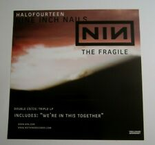 Nine Inch Nails 1999 Double Sided Original The Fragile Promo Poster Flat nothing