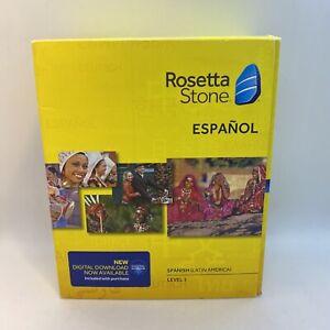 Rosetta Stone Spanish Español Level 1 Version 4 Brand New