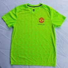 Mens Manchester United Shirt Football Soccer Size Medium Bright Yellow Green