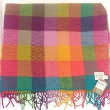 Ireland Avoca Circus Plaid Lambs Wool Women's Scarf  NWT New