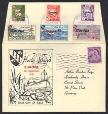 Uk Gb Europa 1961 Hern Island Fdc Set With Cachet & Guernsey Cancel 18.9.61