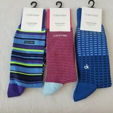 Calvin Klein Socks 3Pairs Dress Luxurious Cotton Men's Multicolor One Size