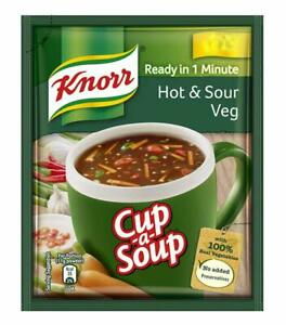 Knorr Veg Hot and Sour Cup-A-Soup, 11g (Pack of 10)